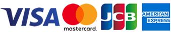 ご利用可能なクレジットカード「VISA」「Master」「JCB」「AMEX」