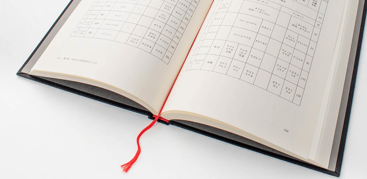 大量ページでも読みやすく11種類のしおり/スピン